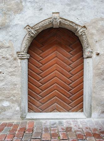 old door: Old door in old district of Tallinn