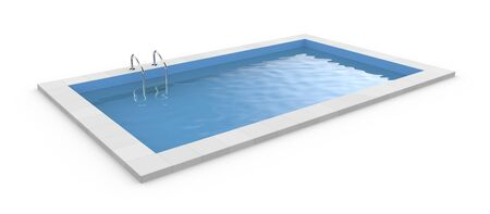 poolside: 3d Pool. Isolated on white