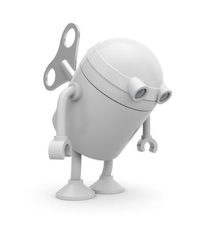 winder: Robot Stock Photo