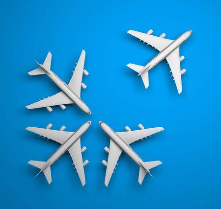 jets: Background jets. Transportation 3d concept