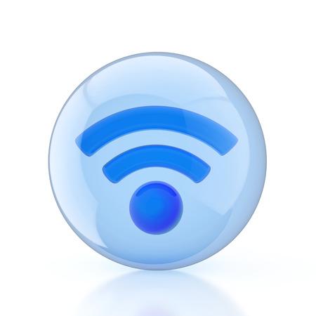 spherule: Wireless Network. Wifi Stock Photo