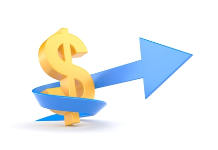 dollar sign icon: Growth Stock Photo