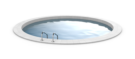 3d swimming pool: Round pool. Photorealistic 3d render