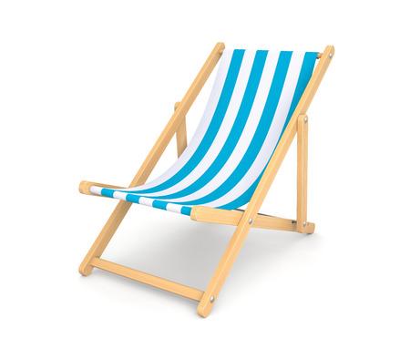 Silla de Sun. Simboliza vacaciones en la playa Foto de archivo - 41185311