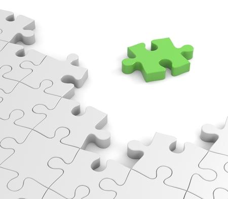piezas de puzzle: El �xito concepto  Foto de archivo