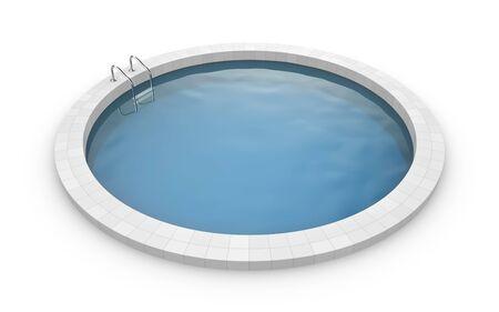 poolside: Round pool. Photorealistic 3d render