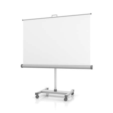 Projectiescherm of whiteboard