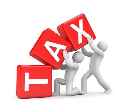 impuestos: Concepto de negocio. Aislados en blanco