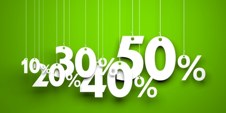This illustration symbolizes great sales and discounts