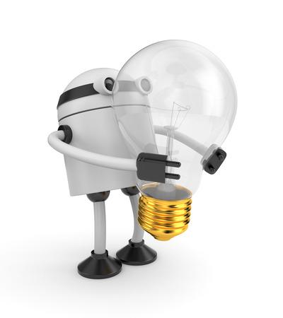 idea bulb: Electronics and technologies metaphor. Isolated on white