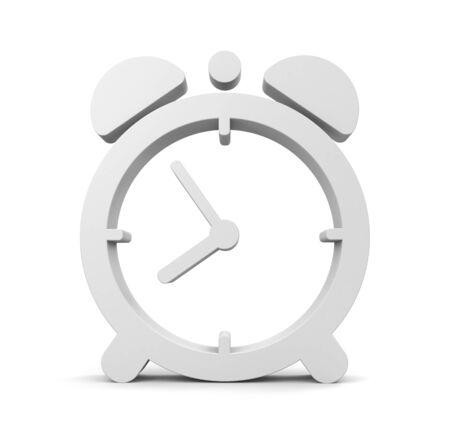 alarm clock: Grey alarm clock. Design element Stock Photo
