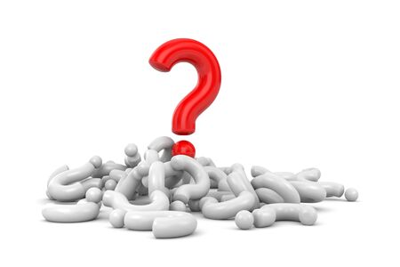 questioner: Red question among other gray questions