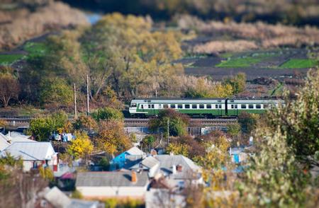 tilt: Landscape with train shot on a tilt shift lens