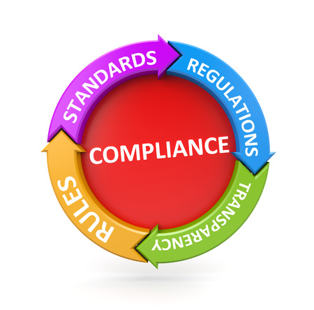 Compliance colorful chart - business metaphor