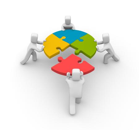 merger: Partnership concept. Isolated on white