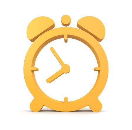 alarm clock: Orange alarm clock. Design element