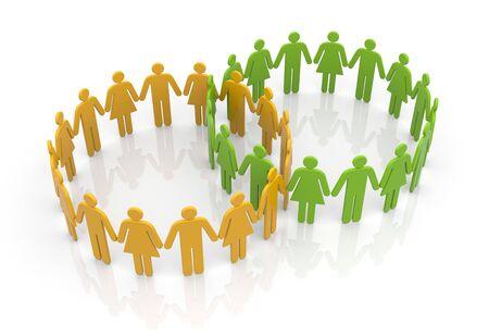 circles: Circles of people Stock Photo