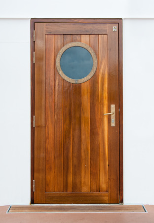 Door on the cruise ship Archivio Fotografico