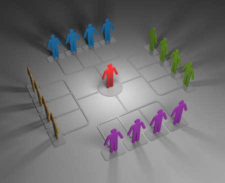 business metaphor: Business metaphor. Conceptual 3d image Stock Photo