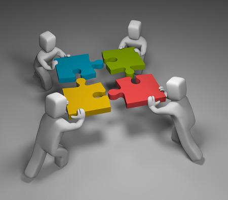 business help: Business concept. Conceptual 3d image