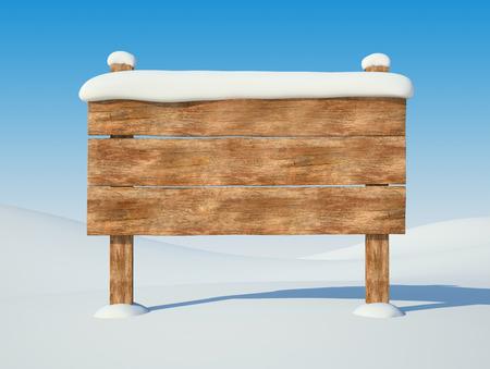 雪の中で古い看板。バック グラウンド