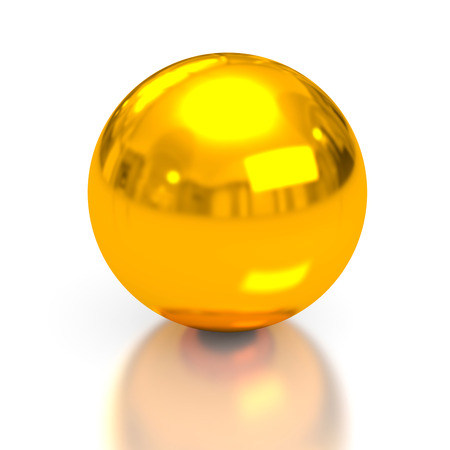 spheres: Gold sphere. 3d conceptual image Stock Photo