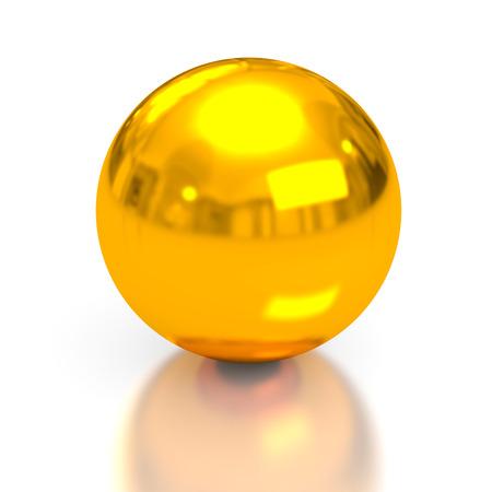 conceptual image: Gold sphere. 3d conceptual image Stock Photo