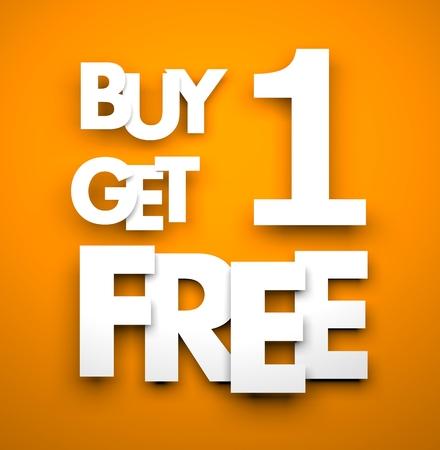 Buy one get one free - business metaphor