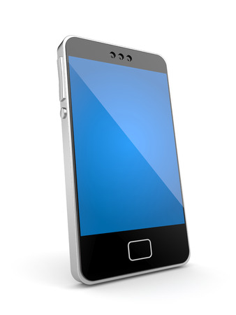 phone isolated: Mobile phone. Isolated on white
