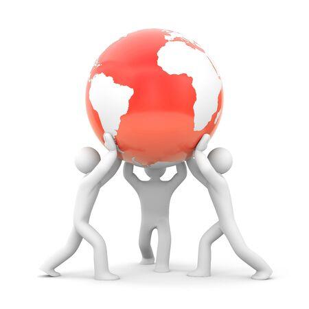 new world order: Partnership concept. New world order metaphor
