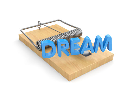 trap: The trap for dreamers - metaphors Stock Photo
