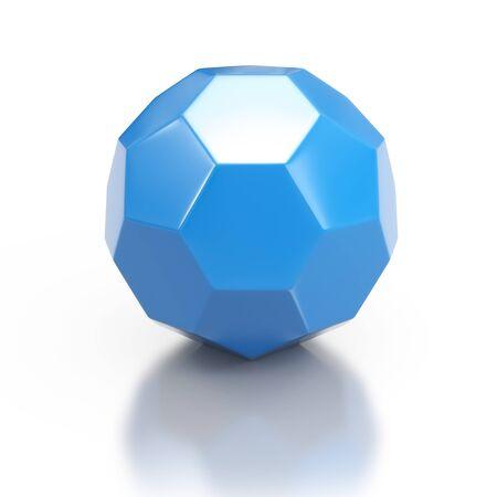 geometric shape: Blue 3d geometric shape