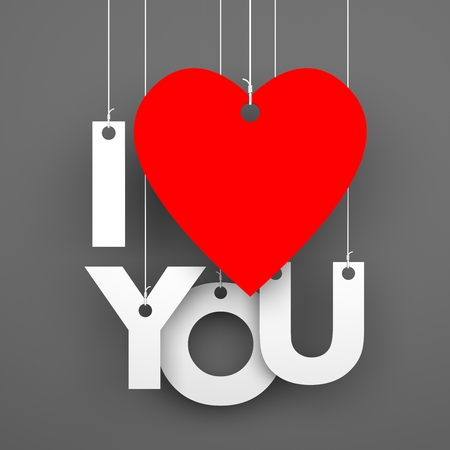 te amo: te quiero. Imagen conceptual Foto de archivo