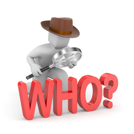 detective: The main question all decetive stories Stock Photo