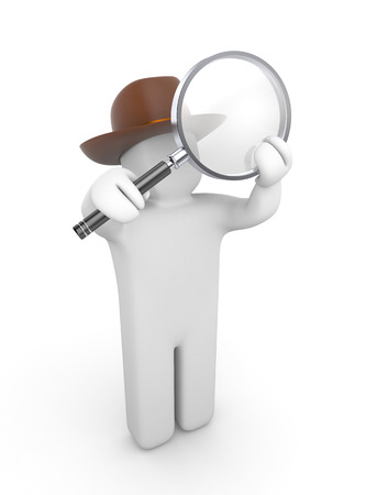 detective: Detective looking in a magnifying glass