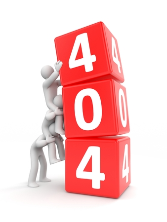 site: 404 site error. Vision of teamwork Stock Photo