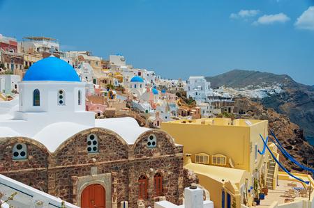 santorini greece: Santorini, Greece. Travel on europe Stock Photo