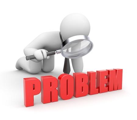 Businessman examine word - problem