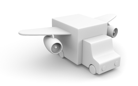 turbines: Truck with wings and turbines