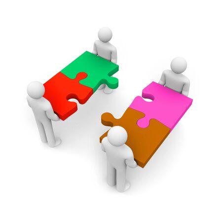 merger: Business vision of merger. Teamwork