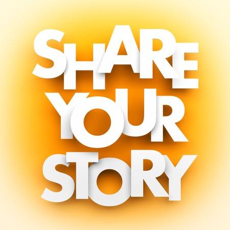 あなたの物語を共有します。概念図 写真素材