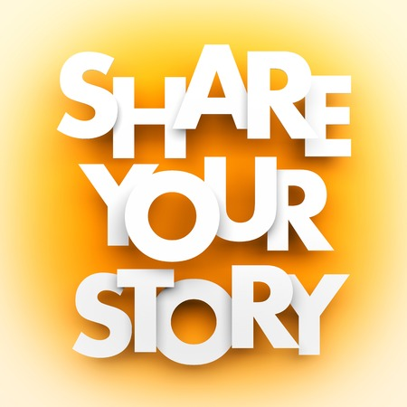 Share your story. Conceptual image Stockfoto