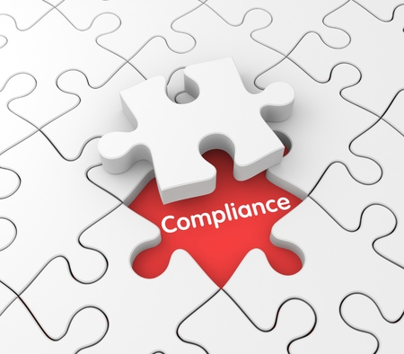 compliant: Business background. Compliance metaphor