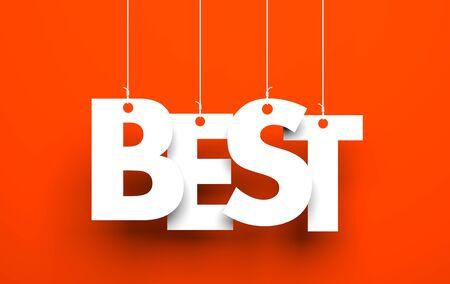 best background: Best word - on red background