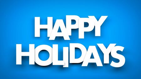 text background: Happy Holidays - 3d rendered background