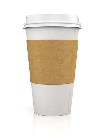 takeout: Coffee in thermo cap. Take-out coffee Stock Photo