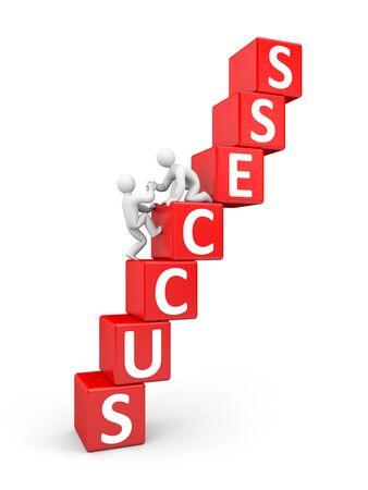 career development: Partnership - success concept