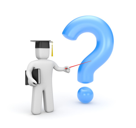 questionably: Education concept