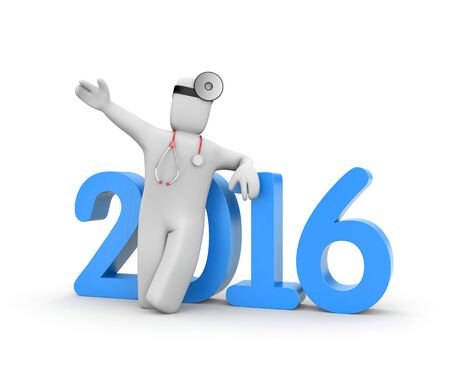 heal new year: Reform of Medicine in USA Stock Photo