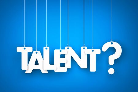 recruit help: Talent - word hanging on the ropes Stock Photo